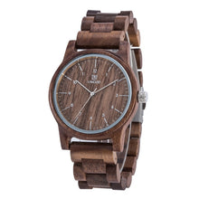 Load image into Gallery viewer, Uwood 100% Natural Wood Watch for Men Vintage Mens Wooden Watch Gifts for Male