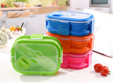 Load image into Gallery viewer, The double Decker collapsible lunch box food storage unit.