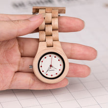 Load image into Gallery viewer, Wow it's a nurses wooden pocket watch..  only 10 left