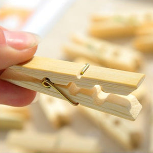 Real wooden pegs, not available easily