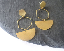 Load image into Gallery viewer, statement geometric earrings