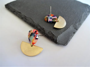 colourful earrings