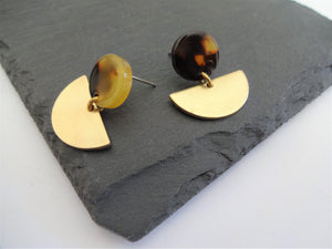 tortoiseshell stud earrings