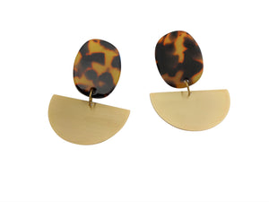 cellulose acrylic acetate earrings