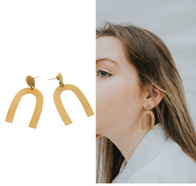 Load image into Gallery viewer, Arc statement  earrings