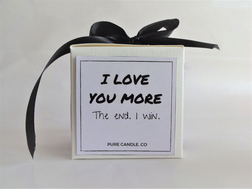 i love you more candle, valentines day gift