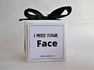 i miss your face candle, best friend gift