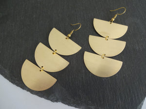 oversized dangle earrings