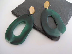 statement clay earrings