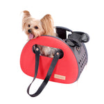 The Bubble Hotel Semi-transparent Pet Carrier Scarlet Red