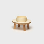 Dog Dining Set 1 Piece Cream