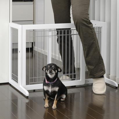 Freestanding Pet Gate Small Origami White
