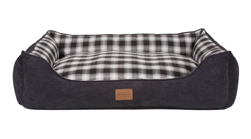 Pendleton Charcoal Ombre Plaid Kuddler Dog Bed
