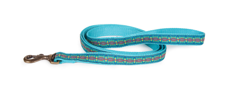 Diamond River Dog Leash Turquoise