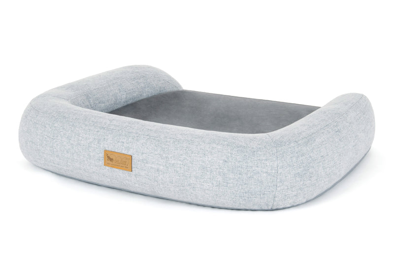 Fog Gray Memory Foam Bed