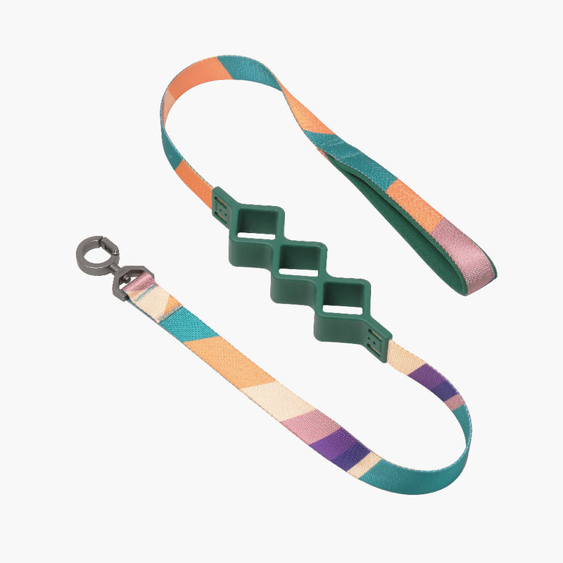 Shock Absorbing Leash Diamond Colored Blocked