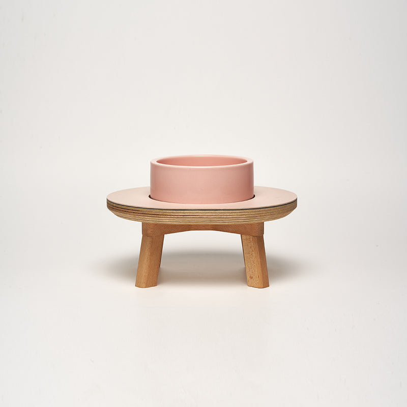 Dog Dining Set 1 Piece Pink