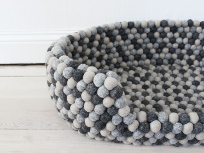 Dark Grey Pet Basket