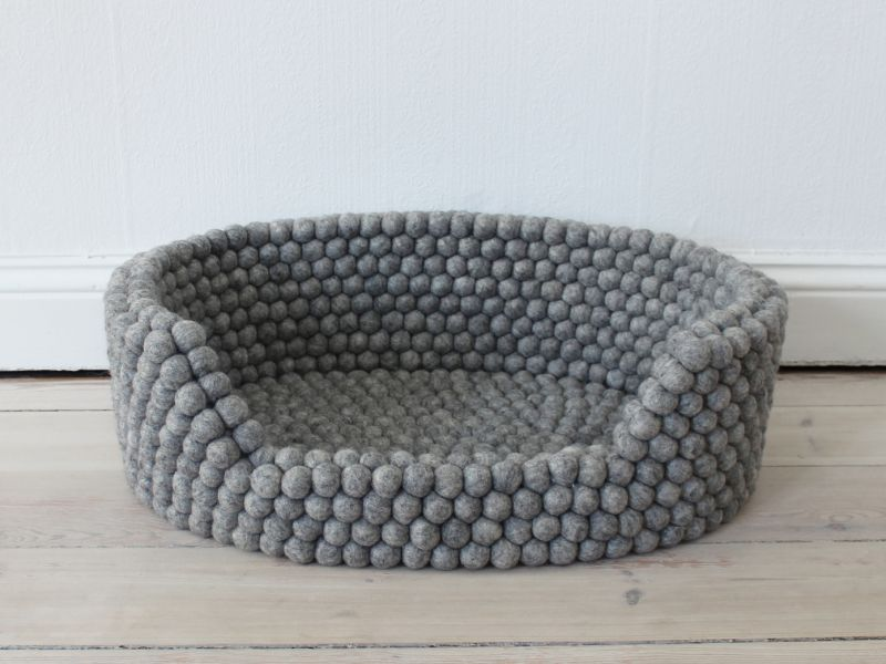 Steel Grey Pet Basket