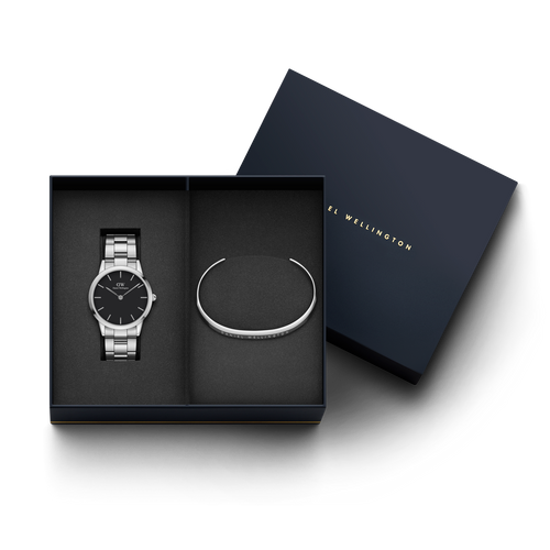Daniel Wellington Iconic Link watch + DW00400002 Bracelet Gift Set