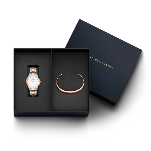 Daniel Wellington Iconic Lumie watch + DW00400003 Bracelet Gift Set