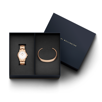 Daniel Wellington Iconic Link watch + Classic Slim Bracelet Gift Set