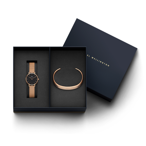 Daniel Wellington Melrose watch + DW00400067 Bracelet Gift Set