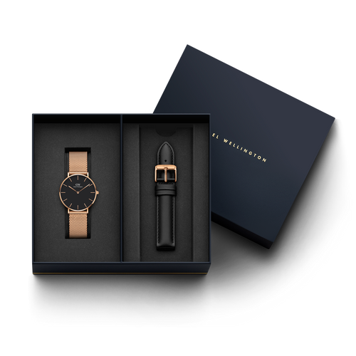 Daniel Wellington Melrose watch + DW00200228 Sheffield Strap