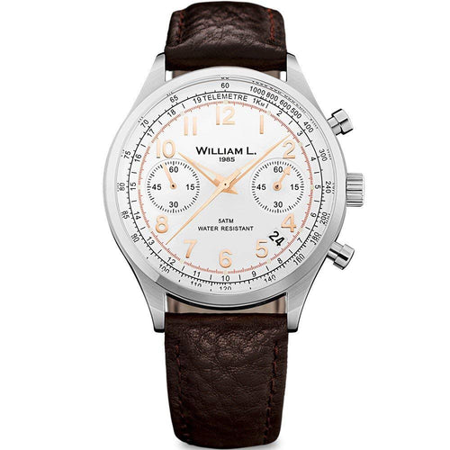 William L Vintage Chrono Watch - WLAC01BCORBM