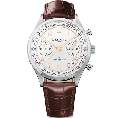 William L Vintage Chrono Watch - WLAC01BCORCM