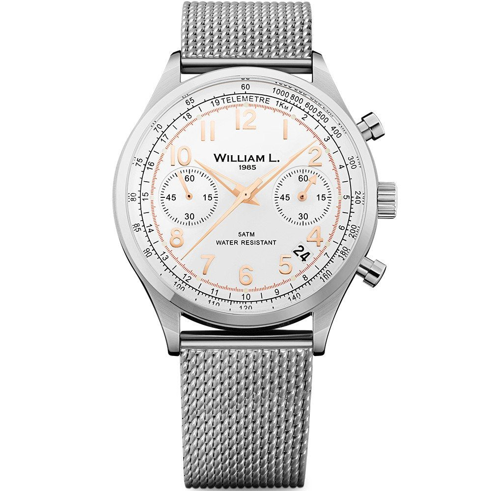 William L Vintage Chrono Watch - WLAC01BCORMM
