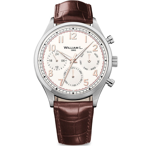William L Vintage Calendar Watch - WLAC03BCORCM