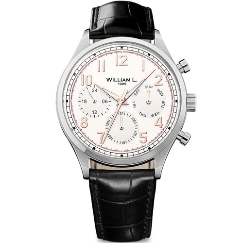 William L Vintage Calendar Watch - WLAC03BCORCN