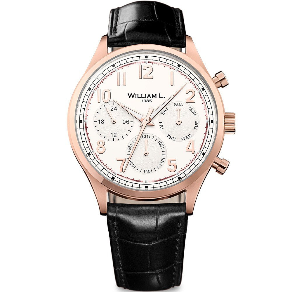 William L Vintage Calendar Watch - WLOR03BCORCN