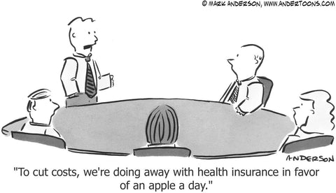 cartoon about health insurance costs by Andertoons