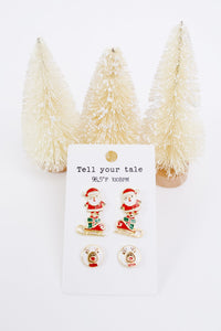 Santa And His Sleigh Earring Set