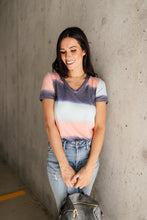 Load image into Gallery viewer, Blurred Stripes V-Neck