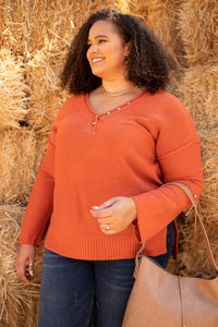 Brielle Top in Rusty Orange