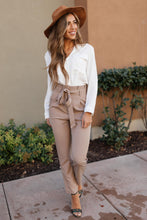 Load image into Gallery viewer, Business Woman Paperbag Pants in Khaki