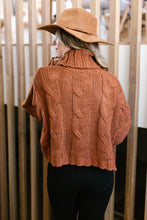 Load image into Gallery viewer, Classic Cable Knit Sweater in Ginger Spice