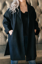 Load image into Gallery viewer, Deconstructed Oversized Trench Coat in Classic Black