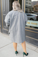 Load image into Gallery viewer, Deconstructed Oversized Trench Coat in Stone Gray
