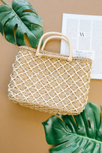Load image into Gallery viewer, Diamond Weave Straw Bag