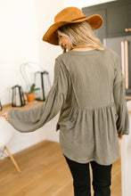 Load image into Gallery viewer, Forever Blooming Babydoll Top in Olive