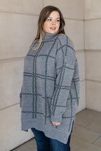 Load image into Gallery viewer, Grand Grid Print Sweater in Charcoal