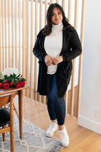 Load image into Gallery viewer, Hooded and Laced Cardigan in Black