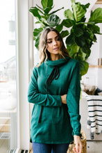 Load image into Gallery viewer, Hop To It Cowl Neck Tunic In Hunter Green