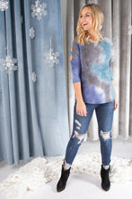 Load image into Gallery viewer, Leslie Ladder Sleeve Top in Blue