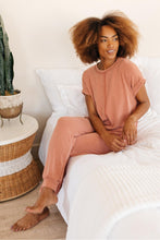 Load image into Gallery viewer, Luxurious Loungewear Top In Terracotta