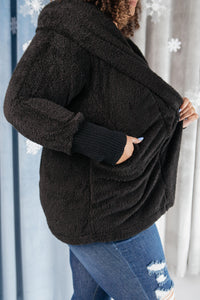 Overly Cozy Cardigan in Black